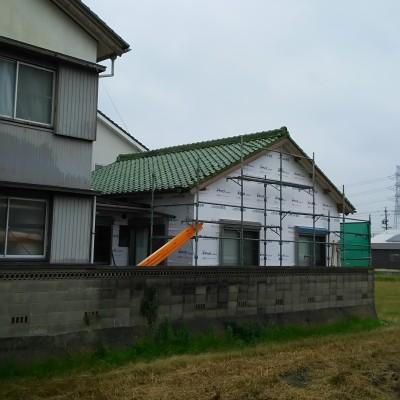 屋根瓦の葺き替え工事 西尾市