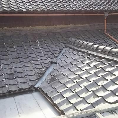 庇屋根瓦葺き替え工事