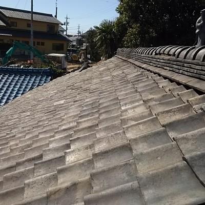 屋根瓦の葺き替え補強 西尾市